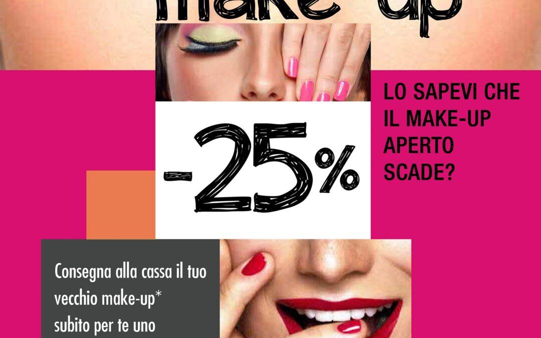 La tua farmacia rottama il tuo make up e ti sconta tutto al 25%
